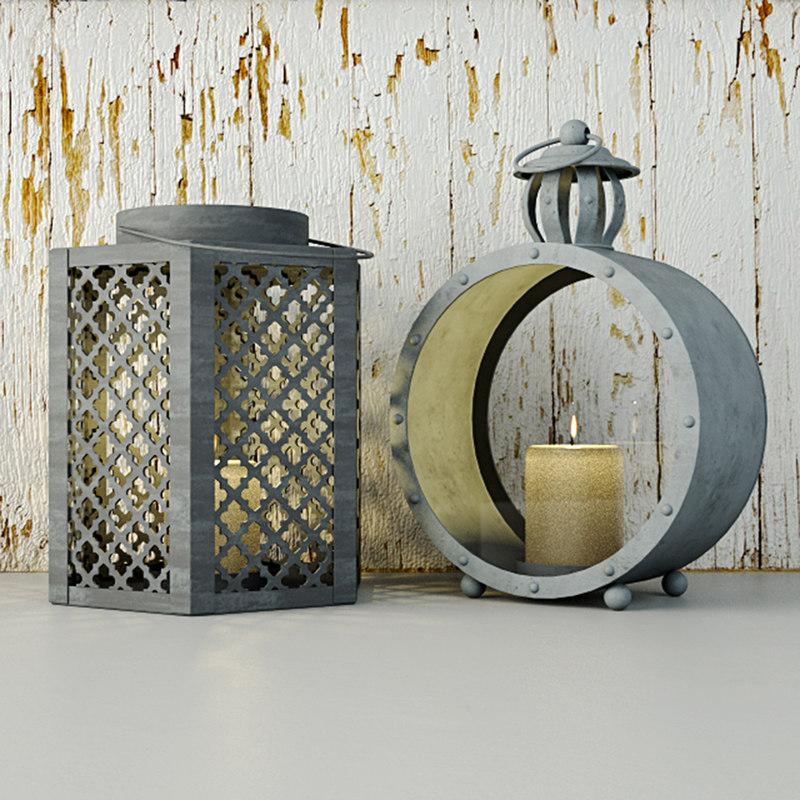 lanterns zara home 3D model