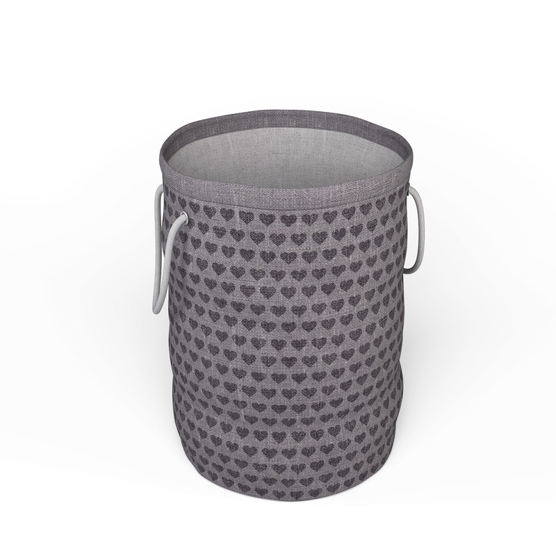 3D model laundry bag - grey-purple