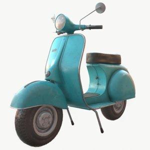 3D vintage scooter
