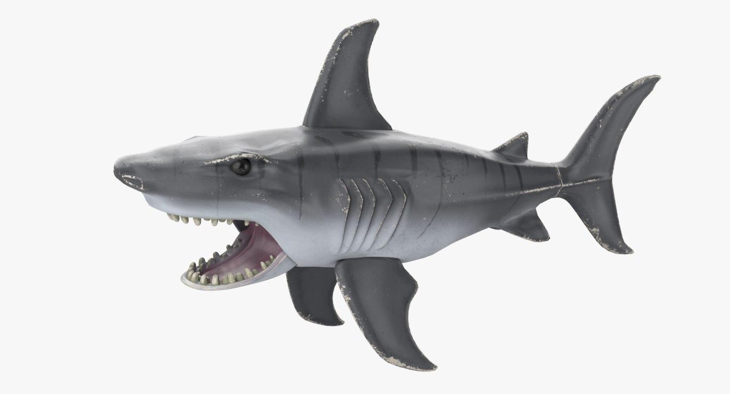 shark toy 3D model