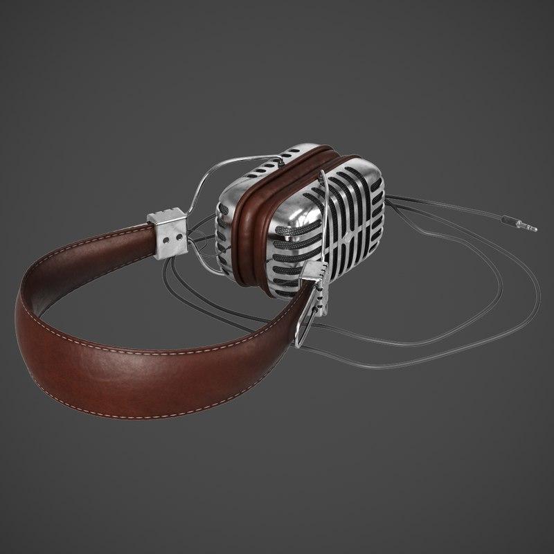 3D model retro heavy beats