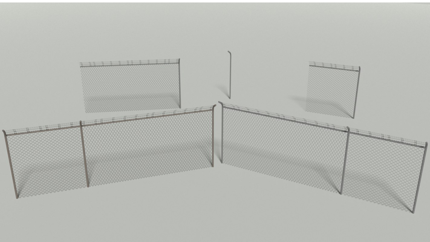 wire fence 3D