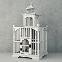 3D white decorative cage zara