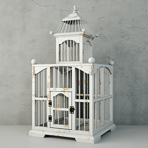 3D white decorative cage zara