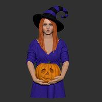 halloween girl 3D model