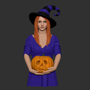 halloween girl 3D model