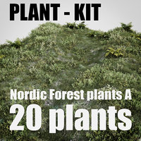 nordic forest plants A collection