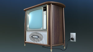 3D vintage television coaxial model