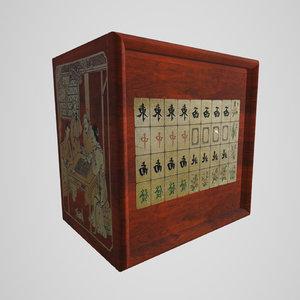 mahjong set 3D model