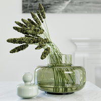 Modern grass arrangement in a vase