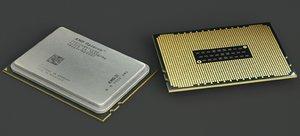 amd opteron 6172 12 3D model
