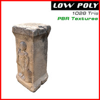 3D ancient column model