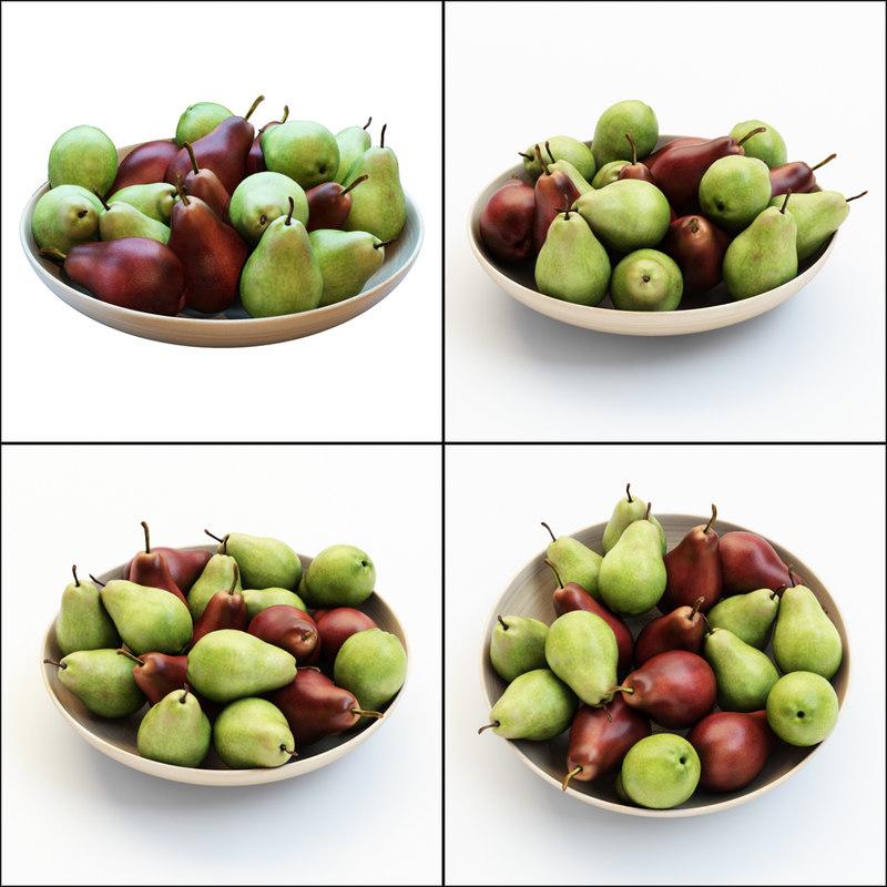 3D pears vase model