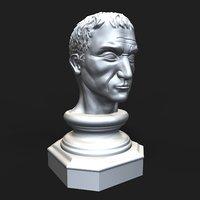 3D gaius julius caesar bust