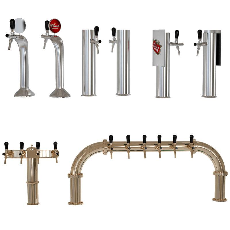 beer equipment 3D model