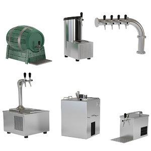 3D beer equipment model
