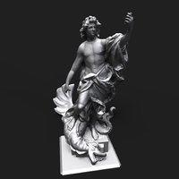 apollo slaying python 3D model