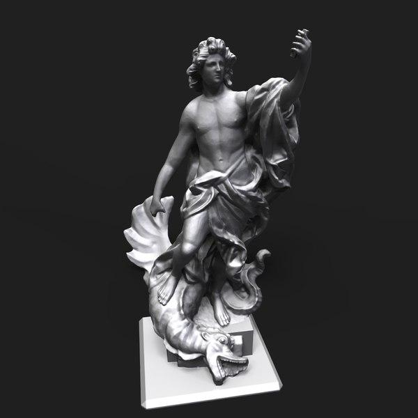 apollo slaying python 3D model