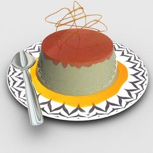 3D model creme caramel