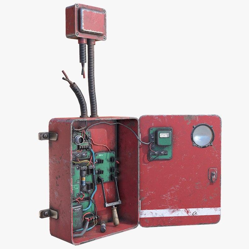 3D fuse box model