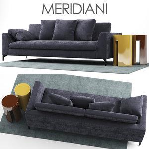 sofa louis meridiani 3D model