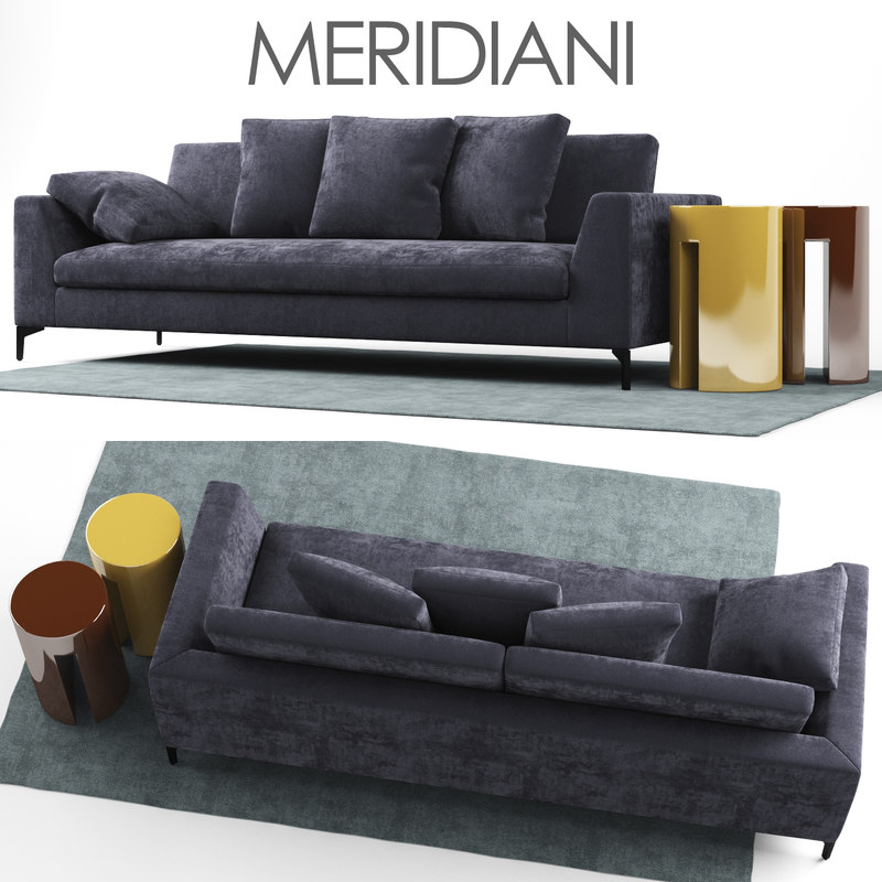 sofa louis meridiani 3D model