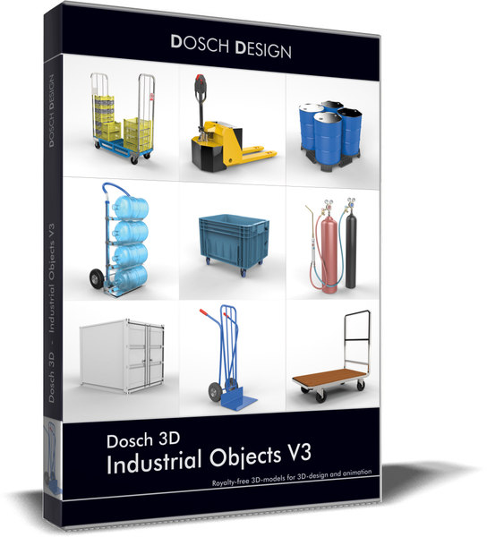 3D model industrial objects v3