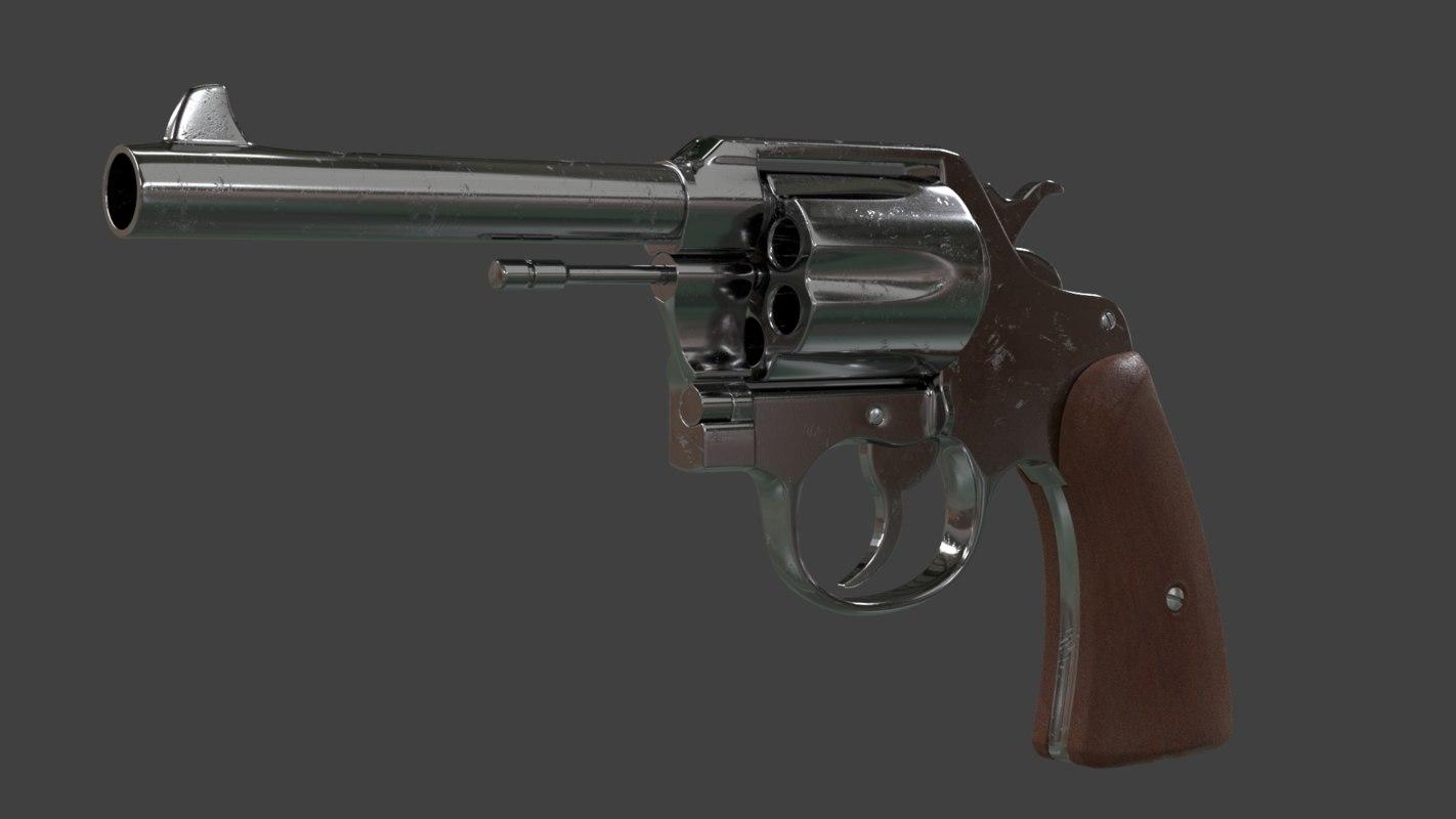 revolver colt 1917 45 3D