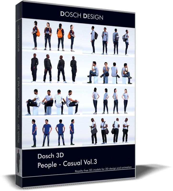 3D people - casual vol 3 model