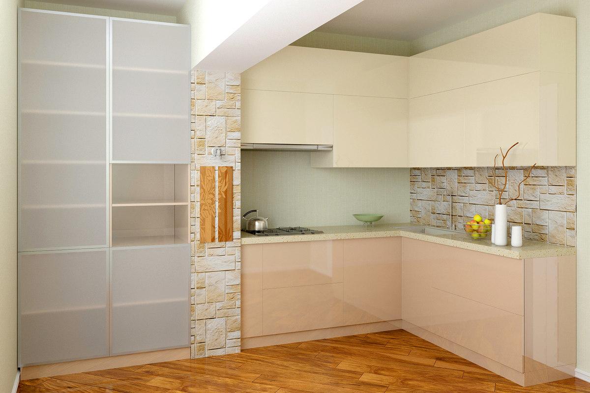 3D realistic modern kitchen alex