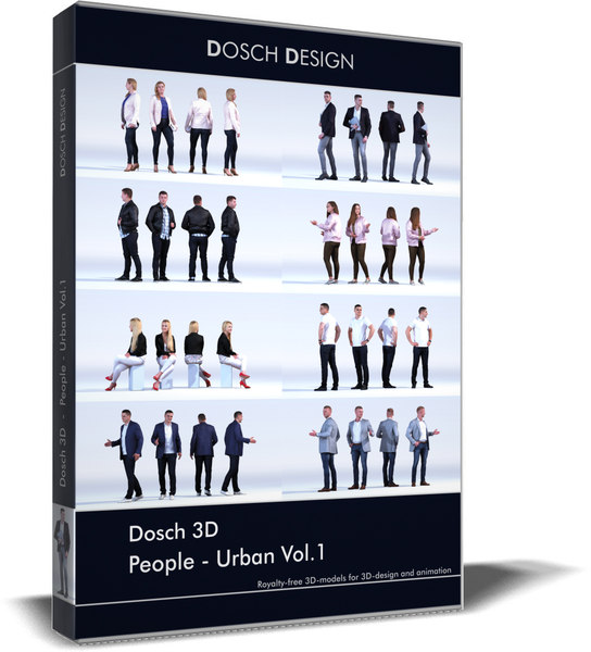 people - urban vol 1 3D model