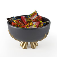 gold candy bowl 3D model
