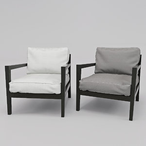 armchair poliform camilla 3D model