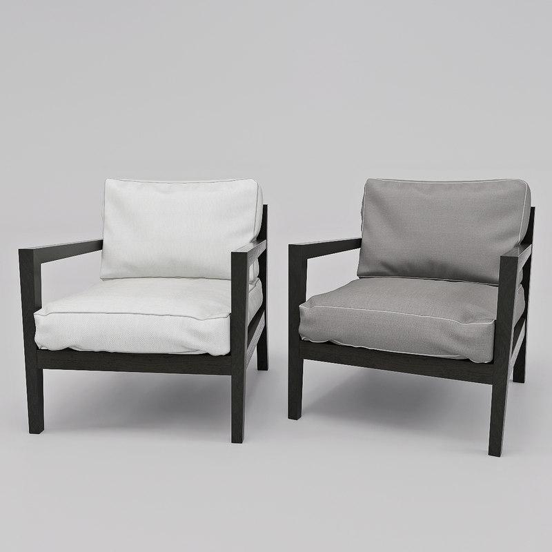 armchair poliform camilla 3D model