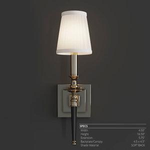 3D model hudson lighting salina