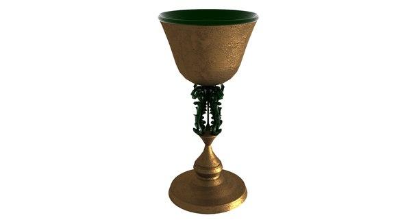 3D golden goblet