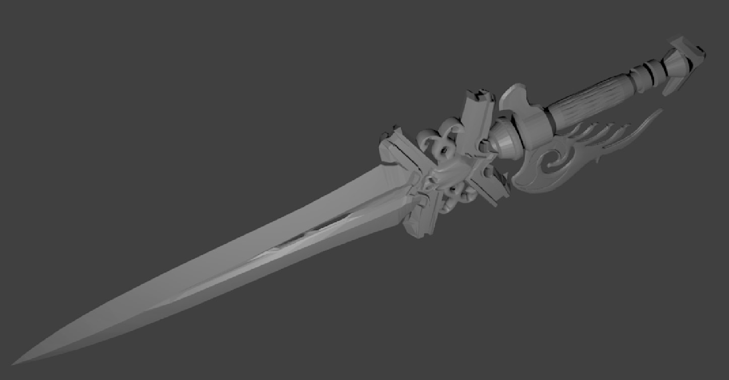 3D scientia daggers model