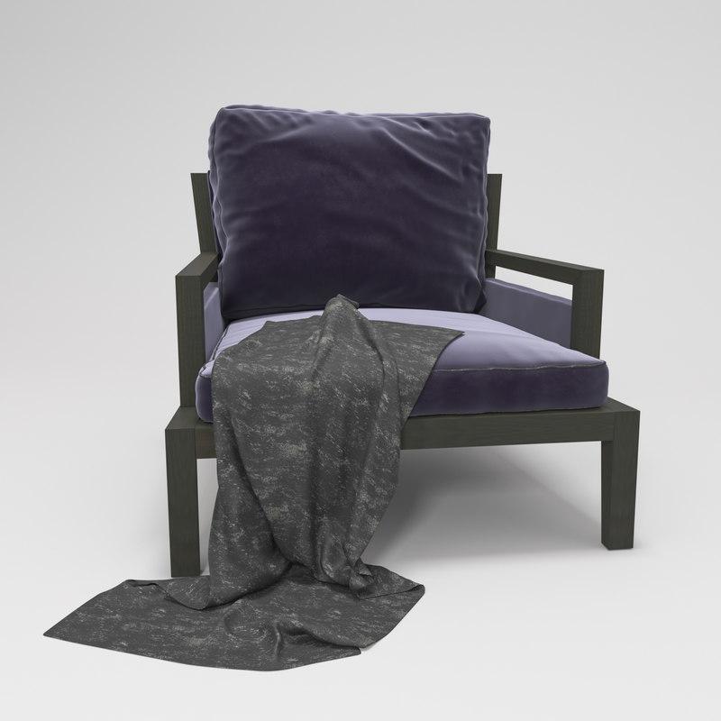 3D armchair poliform soori highline