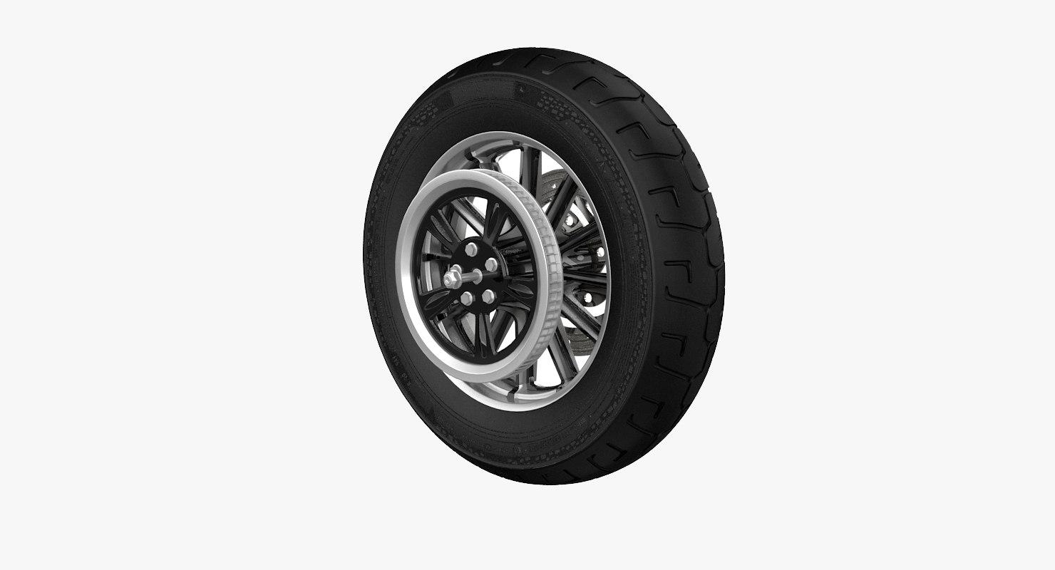 3D model motorcycle rear wheel