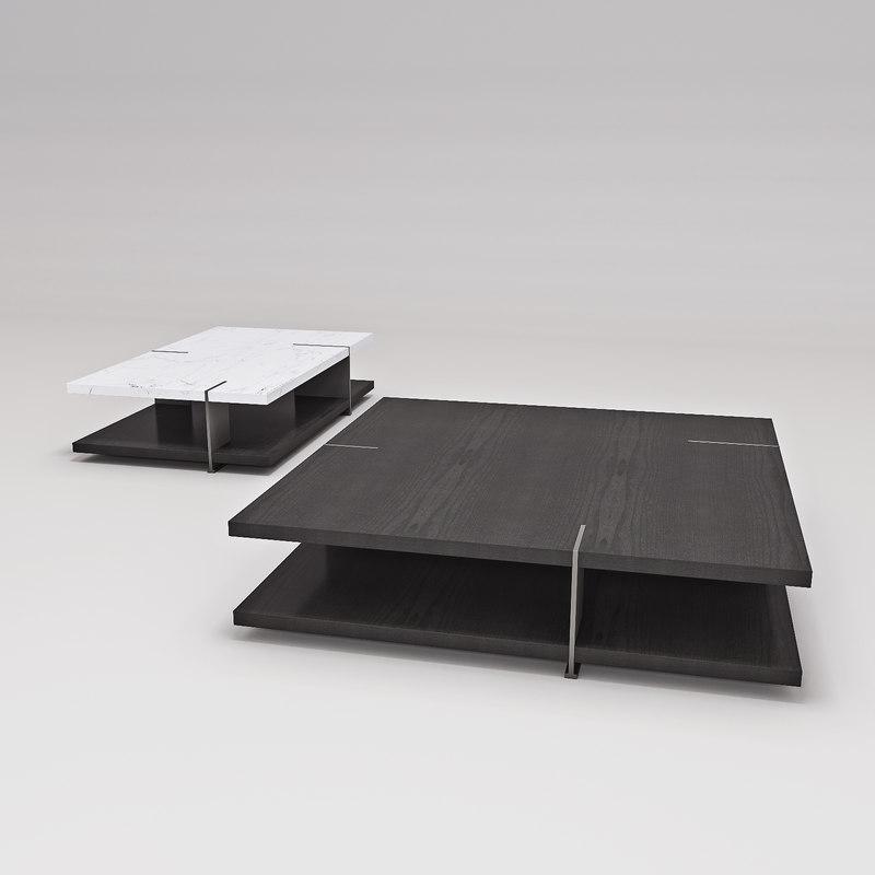 poliform cofee table bristol 3D model