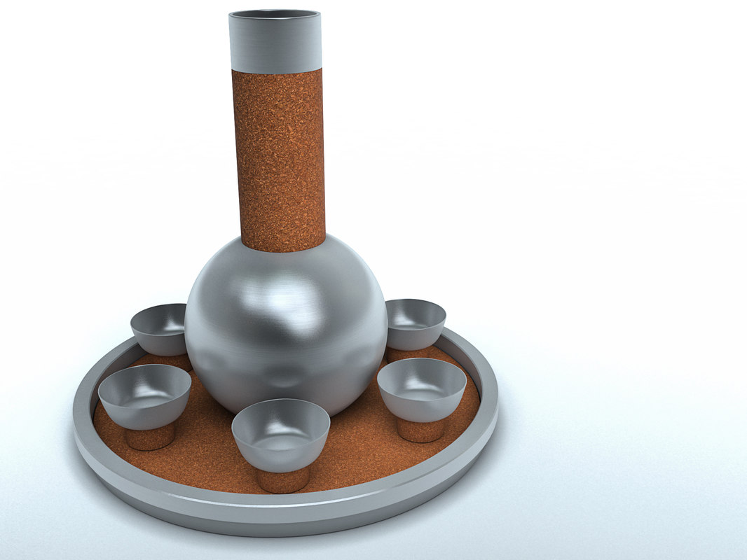 russel wright cocktail set 3D model