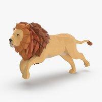 lion---running 3D