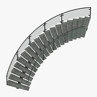 Commercial Staircase Curved