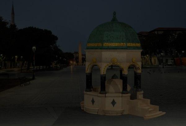 3D german fountain