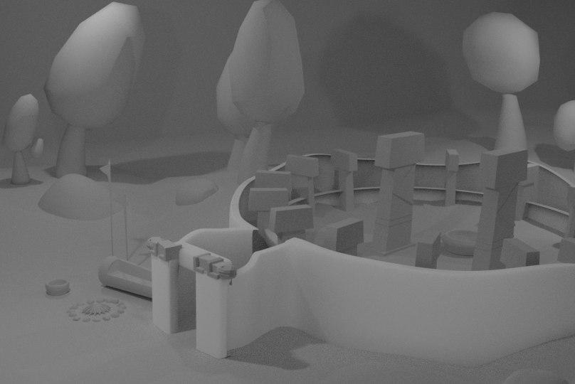 temple pre-historic bc 3D