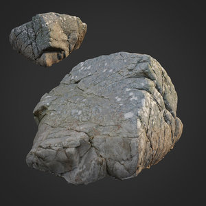 3D scanned nature stone 025