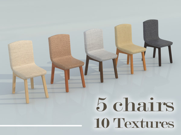 3D 5 chairs