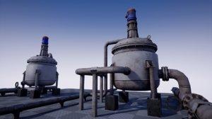 pbr industrial agitated reactor 3D model