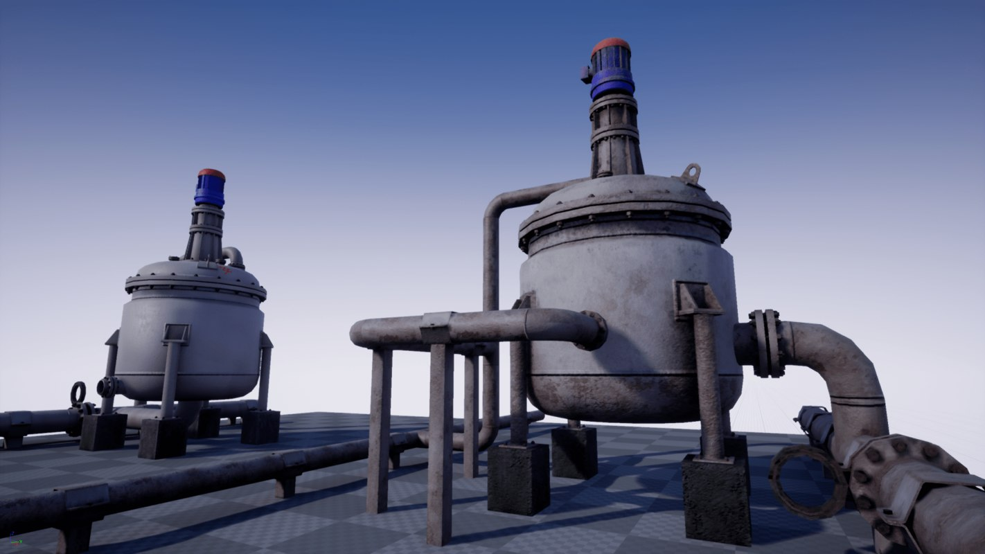 pbr industrial agitated reactor 3D model