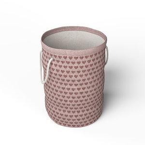 3D model laundry bag - pink